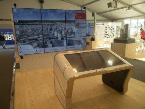 Table Tactile Modèle E Mur Ecrans SGP