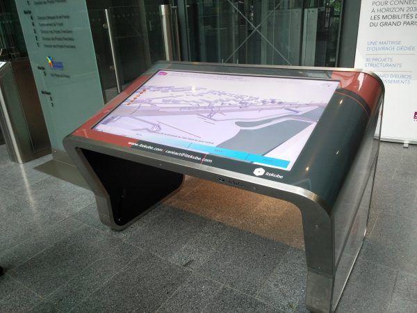 Table tactile - SNCF - Itekube