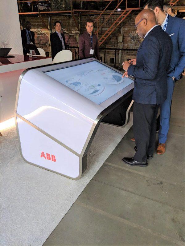 Table tactile Modèle E incliné ABB