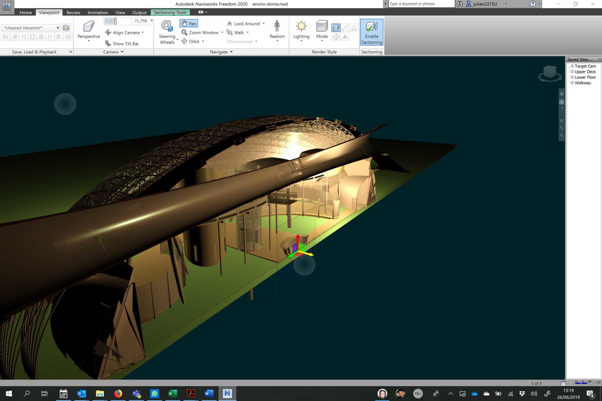 Autodesk Navisworks Freedom Sectionning step 1