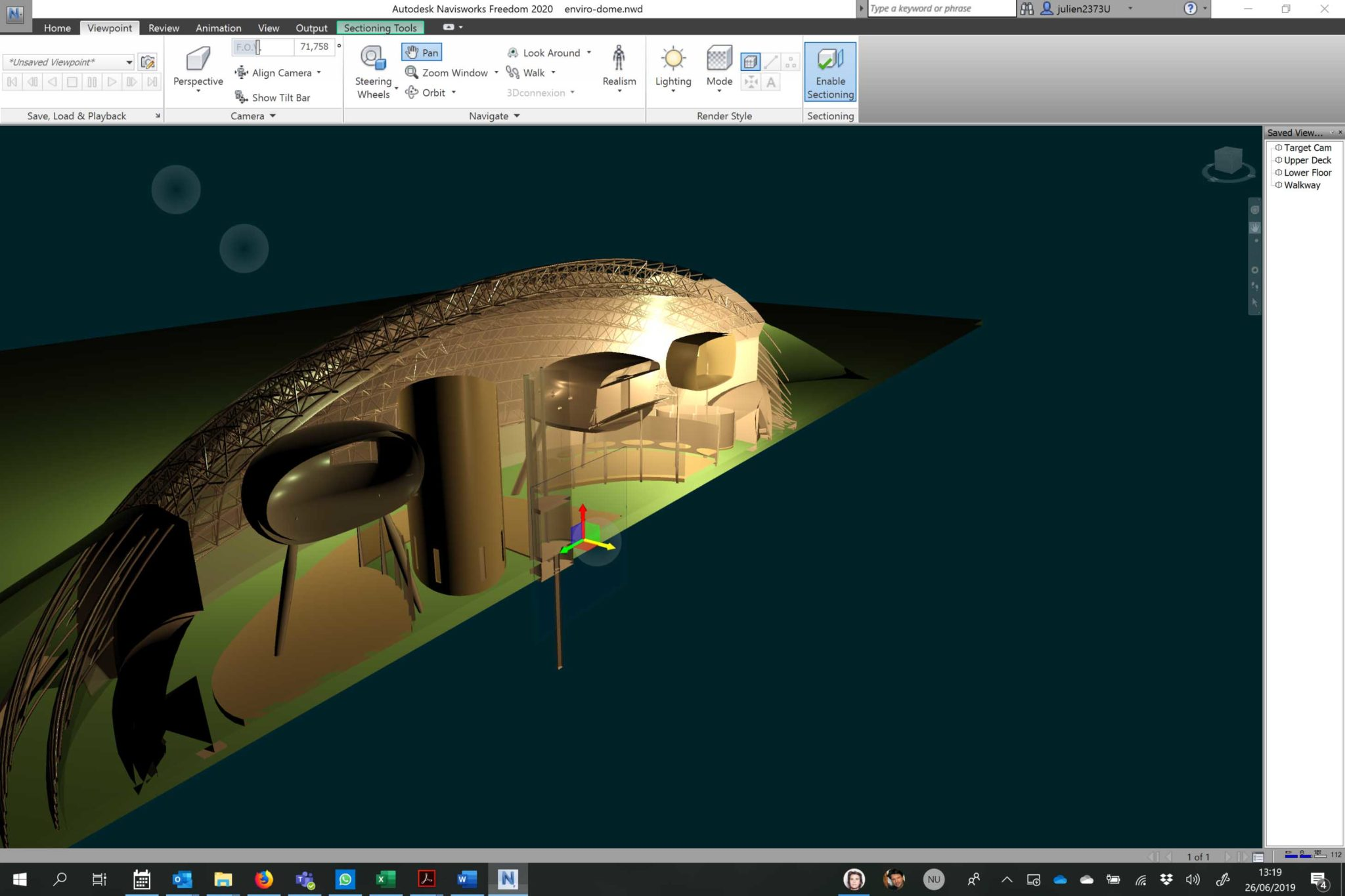Autodesk Navisworks Freedom Sectionning step 2