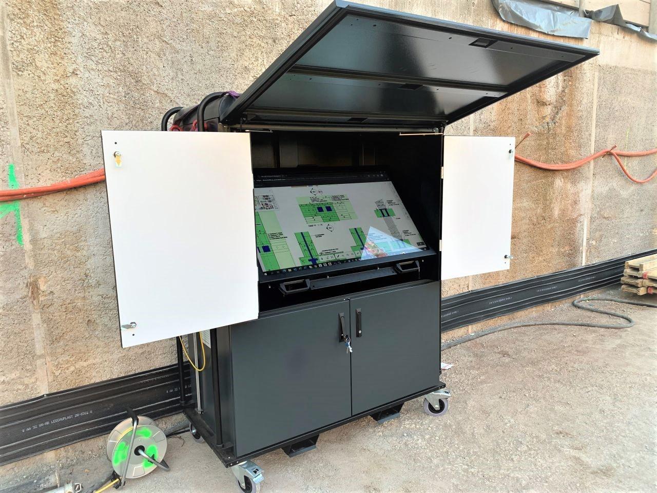 Armoire numérique chantier Implenia